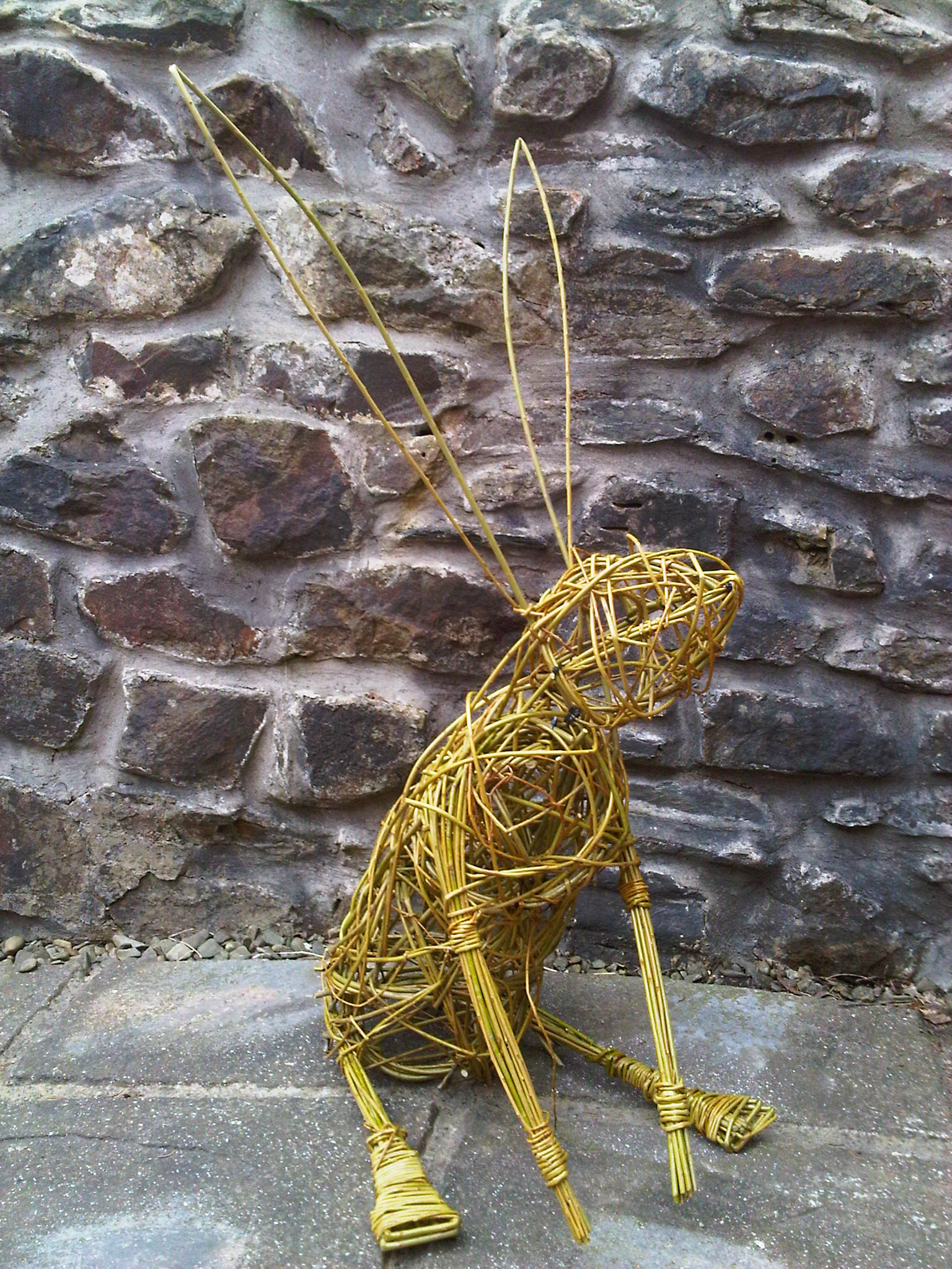 Willow sculpture, hare